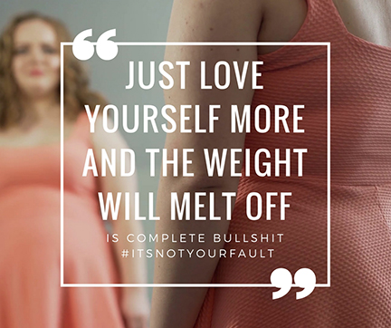 just love yourself more and the weight will melt off blog